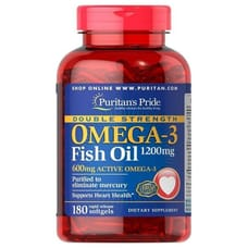 Puritan's Pride Omega-3 Fish Oil Double Strength 1200 mg